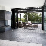 Tegel terrass utsiktsrum